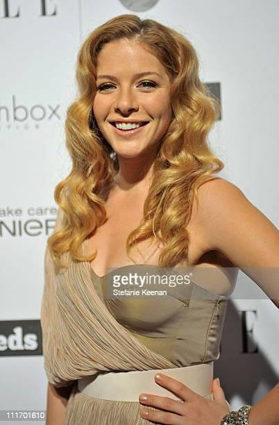 COVERAGE** Actress Rachelle Lefevre attends the ELLE Green Room at the 25th Film Independent Spirit Awards held at Nokia Theatre LA Live on March 5...