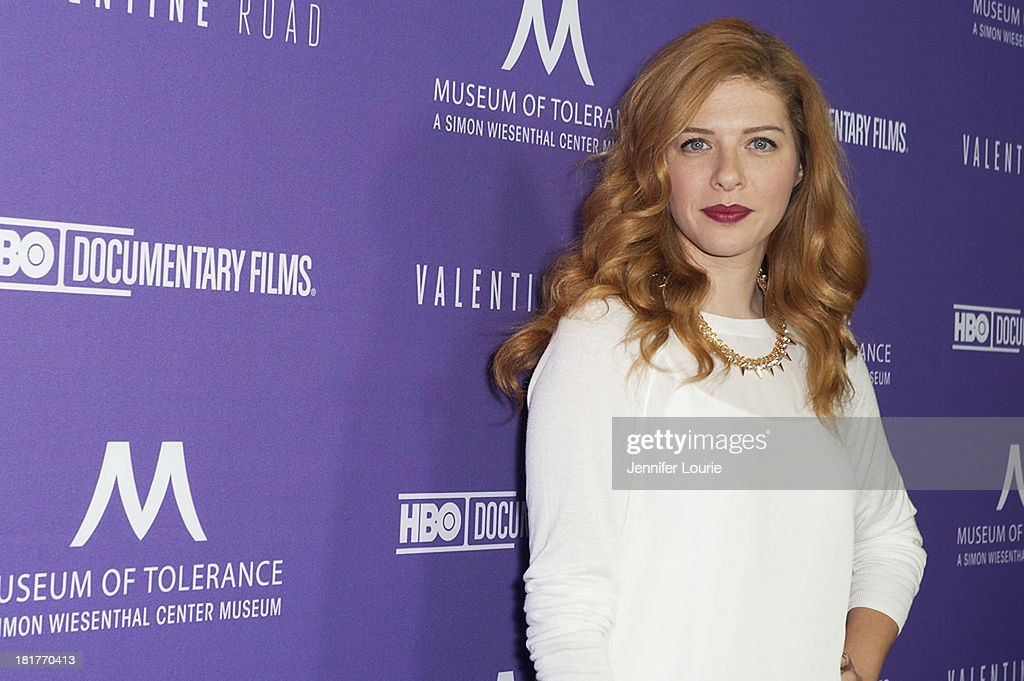 Actress Rachelle Lefevre attends the Los Angeles premiere screening of 'Valentine Road' at The Museum of Tolerance on September 24, 2013 in Los Angeles, California.