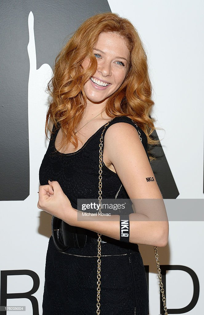 Actress Rachelle Lefevre attends the NKLA Pet Adoption Center Opening Celebration at the NKLA Pet Adoption Center on August 11, 2013 in Los Angeles, California.
