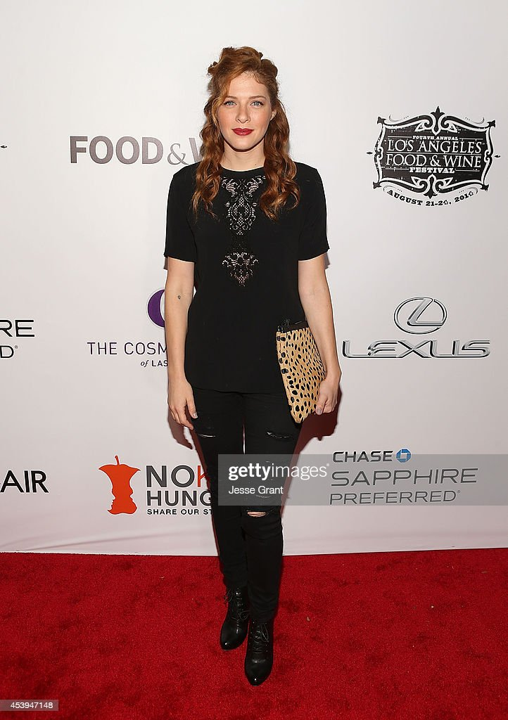 Actress <a gi-track='captionPersonalityLinkClicked' href=/galleries/search?phrase=Rachelle+Lefevre&family=editorial&specificpeople=2538883 ng-click='$event.stopPropagation()'>Rachelle Lefevre</a> attends Ultimate Bites of L.A. Presented by Chase Sapphire Preferred, Hosted by Chef Graham Elliot & Fabio Viviani on August 21, 2014 in Los Angeles, California.