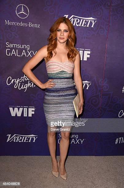 Actress Rachelle Lefevre attends Variety and Women in Film Annual PreEmmy Celebration at Gracias Madre on August 23 2014 in West Hollywood California