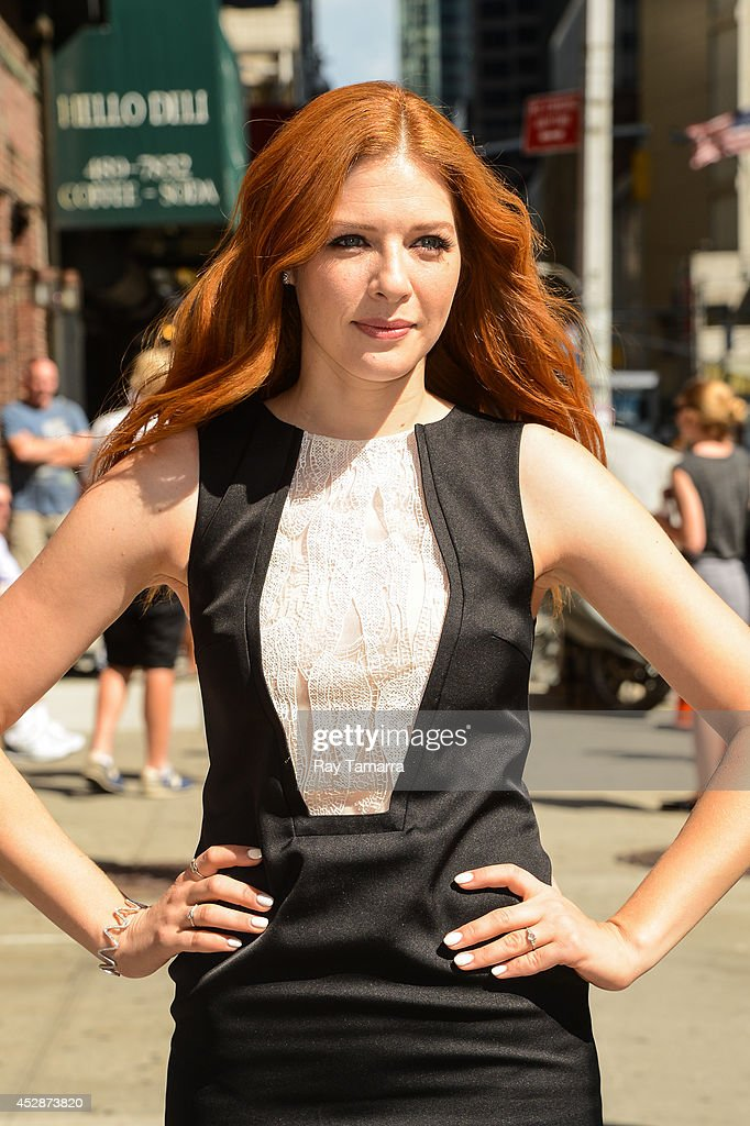 Actress <a gi-track='captionPersonalityLinkClicked' href=/galleries/search?phrase=Rachelle+Lefevre&family=editorial&specificpeople=2538883 ng-click='$event.stopPropagation()'>Rachelle Lefevre</a> enters the 'Late Show With David Letterman' taping at the Ed Sullivan Theater on July 29, 2014 in New York City.