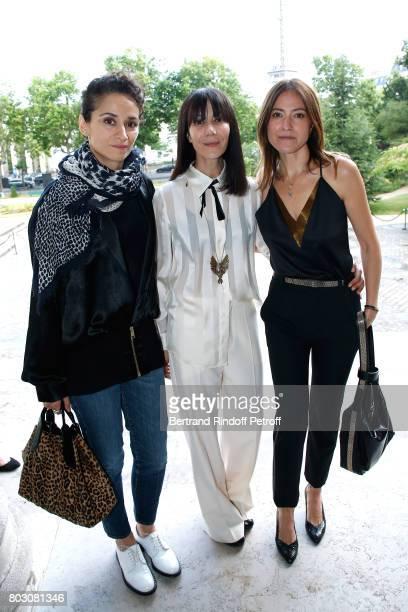 Actress Rachida Brakni Bouchra Jarrar and singer Keren Ann attend Artistic Director of Lanvin Bouchra Jarrar is Decorated 'Officier de l'Ordre des...
