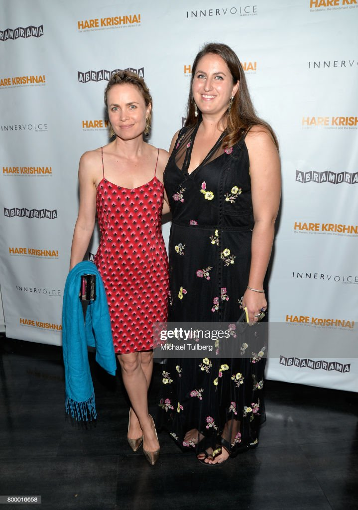 Actress Radha Mitchell and producer Lauren Ross attend a screening of Abramorama's 'Hare Krishna!: The Mantra, the Movement and the Swami Who Started It All' at Laemmle Monica Film Center on June 22, 2017 in Santa Monica, California.