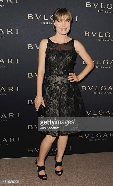 Actress Radha Mitchell arrives at BVLGARI 'Decades Of Glamour' Oscar Party Hosted By Naomi Watts at Soho House on February 25 2014 in West Hollywood...