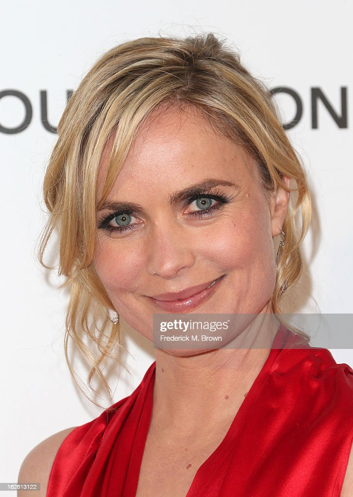 Actress Radha Mitchell arrives at the 21st Annual Elton John AIDS Foundation's Oscar Viewing Party on February 24, 2013 in Los Angeles, California.