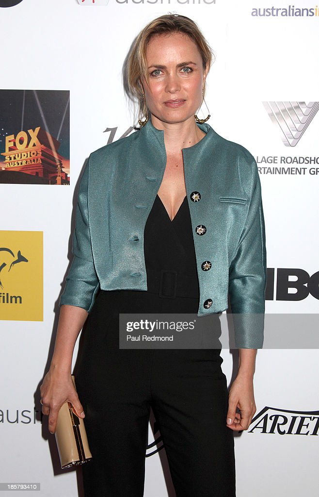 Actress Radha Mitchell arrives at the Australians In Film Benefit Dinner at the InterContinental Hotel on October 24, 2013 in Century City, California.