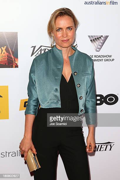 Actress Radha Mitchell arrives at the Australians in film benefit dinner at InterContinental Hotel on October 24 2013 in Century City California