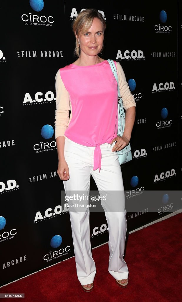 Actress <a gi-track='captionPersonalityLinkClicked' href=/galleries/search?phrase=Radha+Mitchell&family=editorial&specificpeople=204168 ng-click='$event.stopPropagation()'>Radha Mitchell</a> attends the premiere of the Film Arcade's 'A.C.O.D.' at the Landmark Theater on September 26, 2013 in Los Angeles, California.
