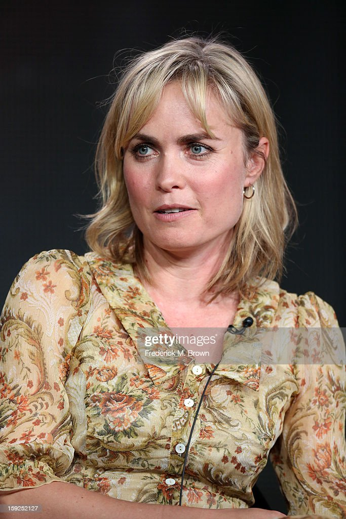 Actress Radha Mitchell of 'Red Widow' speaks onstage during the ABC portion of the 2013 Winter TCA Tour at Langham Hotel on January 10, 2013 in Pasadena, California.