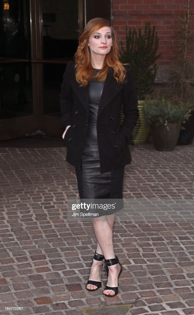 Actress Raeden Greer attends The Cinema Society & Jaeger-LeCoultre screening of Open Road Films' 'The Host' at Tribeca Grand Hotel on March 27, 2013 in New York City.