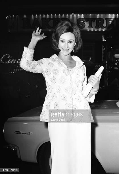 Actress Raffaella Carra posing for a portrait on November 101965 in New York New York
