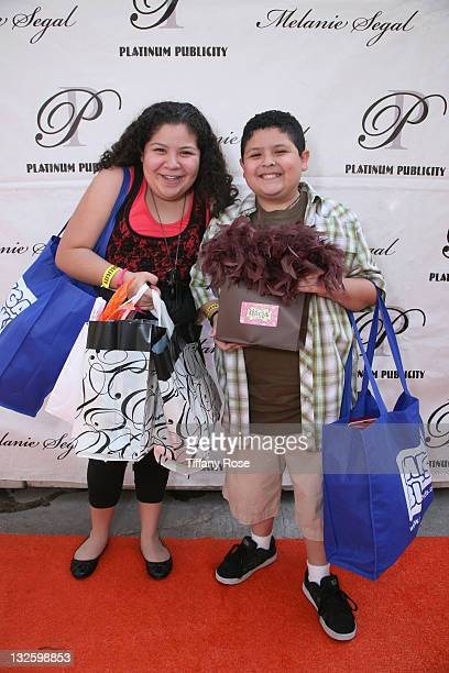 Actress Raini Rodriguez and actor Rico Rodriguez attend Melanie Segal's Kids Choice Lounge for Save the Children Day 1 at The Magic Castle on March...