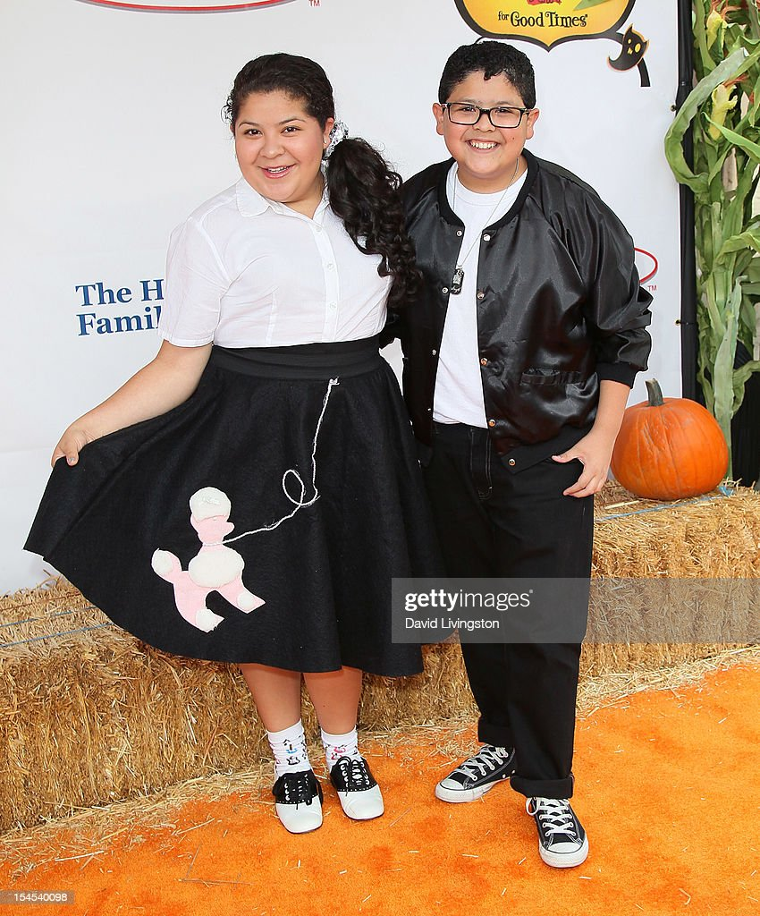 Actress Raini Rodriguez (L) and brother actor Rico Rodriguez attend Camp Ronald McDonald for Good Times 20th Annual Halloween Carnival at the Universal Studios Backlot on October 21, 2012 in Universal City, California.