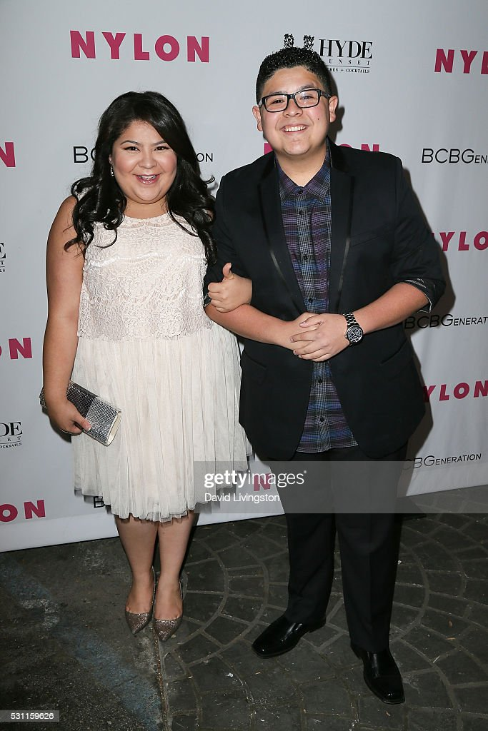 Actress Raini Rodriguez and Rico Rodriguez arrive at NYLON and BCBGeneration's Annual Young Hollywood May Issue Event at HYDE Sunset Kitchen...