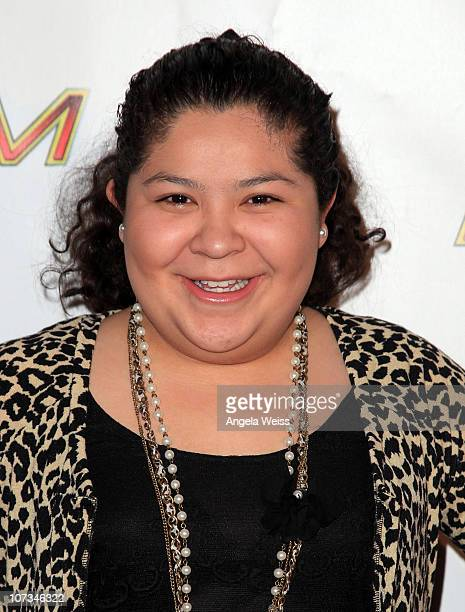 Actress Raini Rodriguez arrives at 1027 KIIS FM's Jingle Ball 2010 at Nokia Theater LA Live on December 5 2010 in Los Angeles California