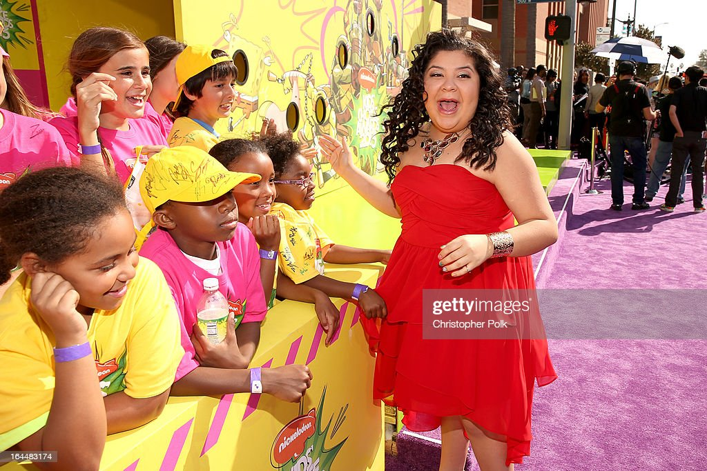 Actress Raini Rodriguez arrives at Nickelodeon's 26th Annual Kids' Choice Awards at USC Galen Center on March 23, 2013 in Los Angeles, California.