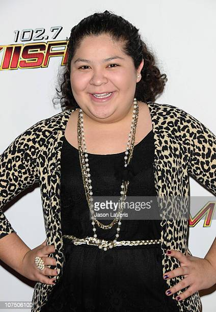 Actress Raini Rodriguez attends 1027 KIIS FM's Jingle Ball 2010 at Nokia Theatre LA Live on December 5 2010 in Los Angeles California