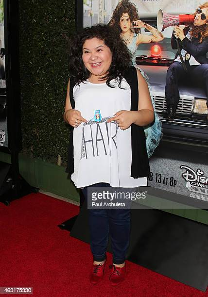 Actress Raini Rodriguez attends the Los Angeles premiere of 'Bad Hair Day' a Disney Channel original movie at Walt Disney Studios on February 10 2015...