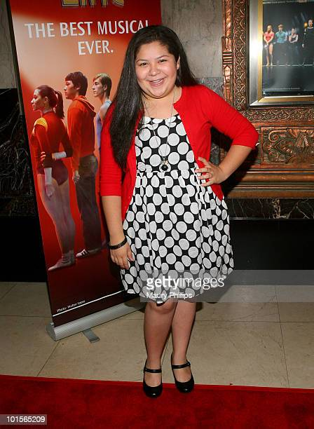 Actress Raini Rodriguez attends the opening night of 'A Chorus Line' at the Pantages Theatre on June 1 2010 in Hollywood California