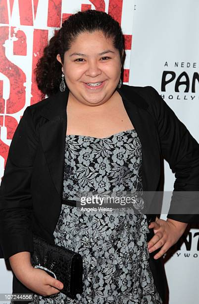 Actress Raini Rodriguez attends the opening night of 'West Side Story' at the Pantages Theatre on December 1 2010 in Hollywood California