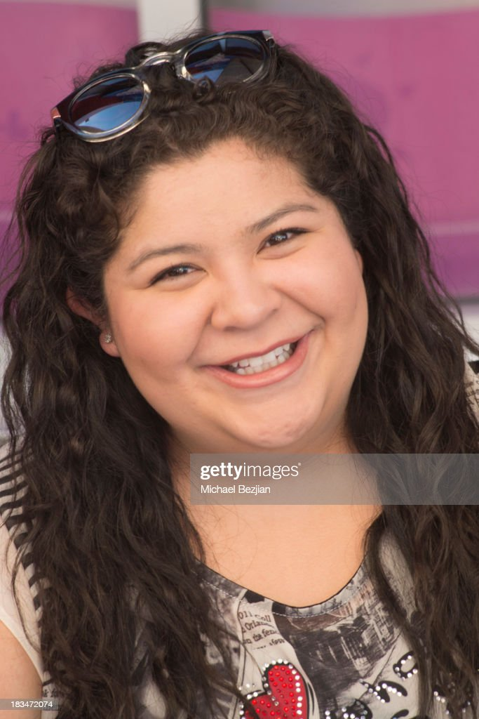 Actress <a gi-track='captionPersonalityLinkClicked' href=/galleries/search?phrase=Raini+Rodriguez&family=editorial&specificpeople=5659055 ng-click='$event.stopPropagation()'>Raini Rodriguez</a> volunteers at the 14th Annual 'Mattel Party On The Pier' Benefiting Mattel Children's Hospital UCLA at Santa Monica Pier on October 6, 2013 in Santa Monica, California.