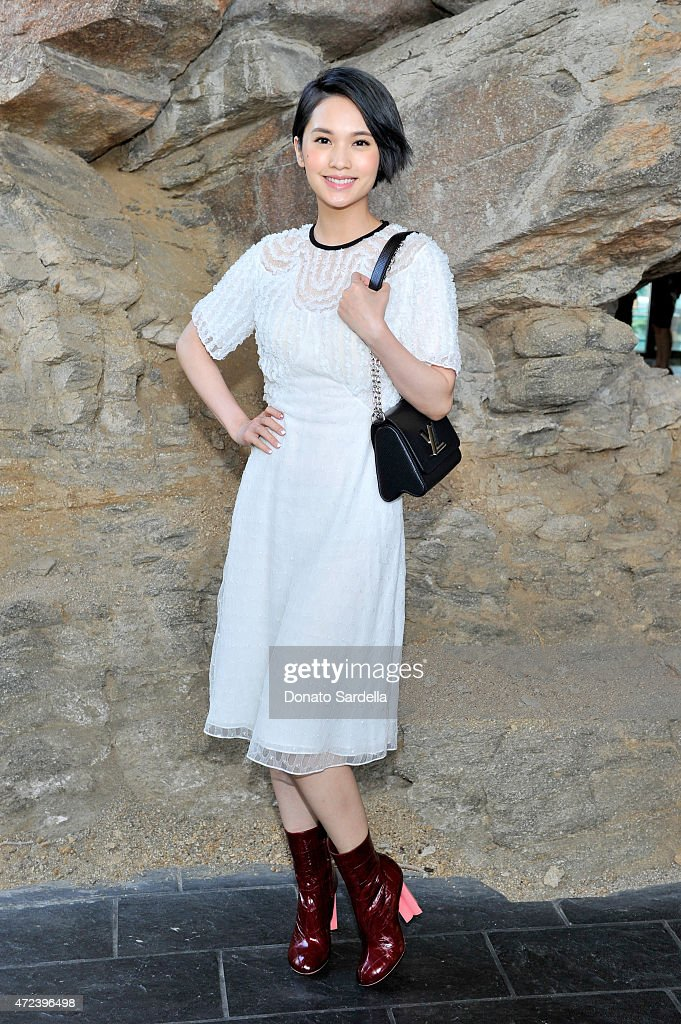 Actress <a gi-track='captionPersonalityLinkClicked' href=/galleries/search?phrase=Rainie+Yang&family=editorial&specificpeople=574307 ng-click='$event.stopPropagation()'>Rainie Yang</a> attends the Louis Vuitton Cruise 2016 Resort Collection shown at a private residence on May 6, 2015 in Palm Springs, California.