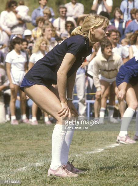 Actress Randi Oakes attends the 'Taping of 'Battle of the Network Stars' ' on April 23 1983 at Pepperdine University in Malibu California