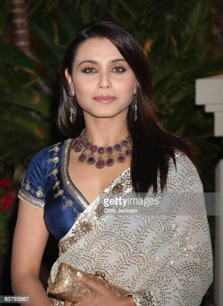 Actress Rani Mukherjee attends the landmark Grand Opening of Atlantis The Palm Resort and the Palm Jumeirah on November 20 2008 in Dubai United Arab...