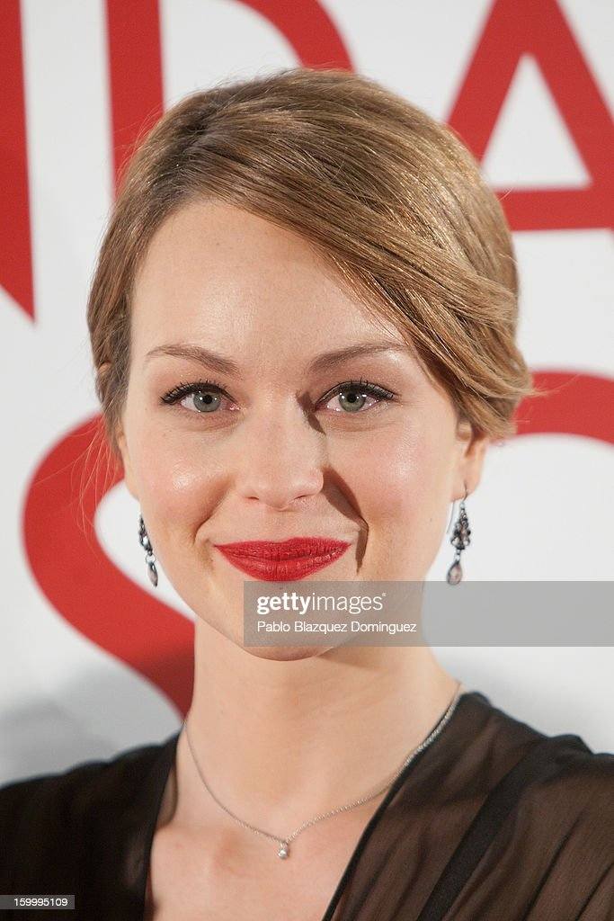 Actress Raphaelle Agogue attends 'La Banda Picasso' Premiere at Capitol Cinema on January 24, 2013 in Madrid, Spain.