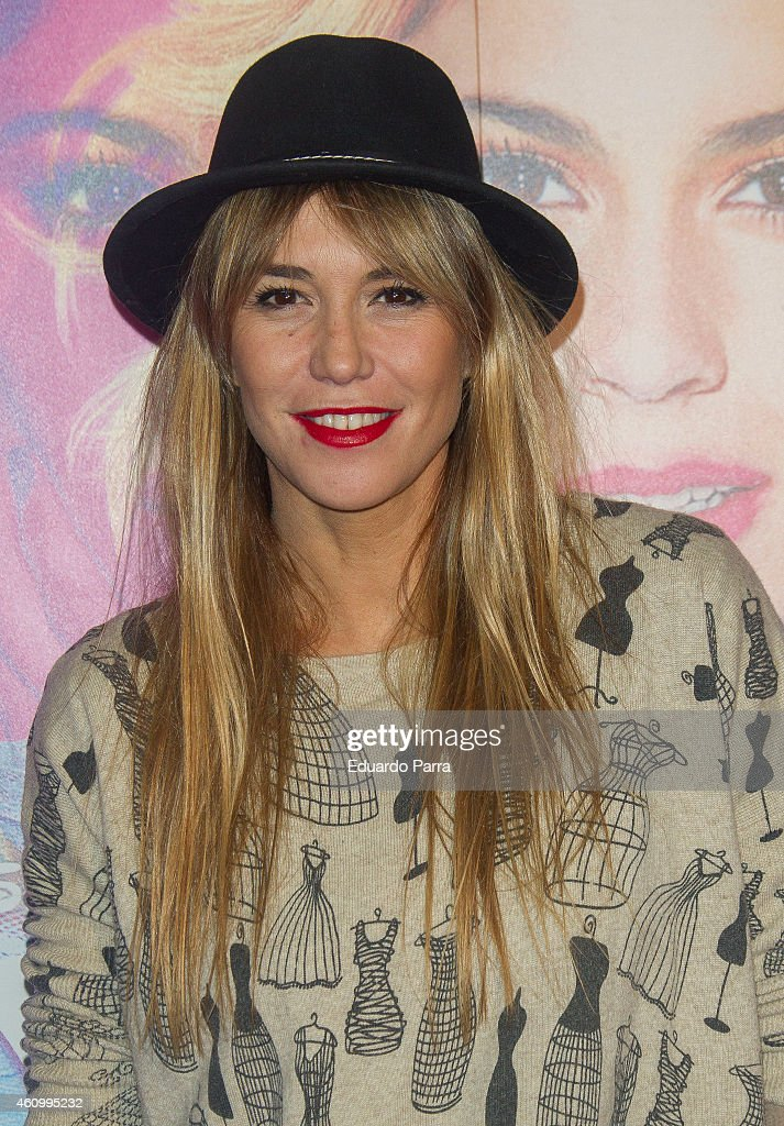Actress Raquel Merono attends 'Violetta' concert photocall at Barclaycard Center on January 3 2015 in Madrid Spain