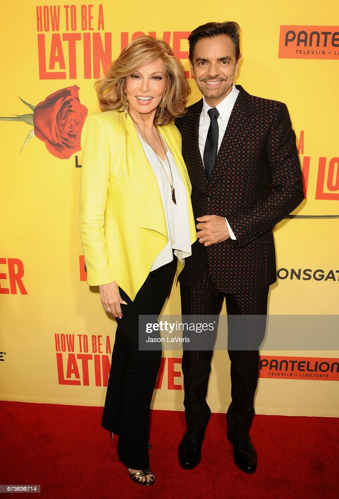 Actress Raquel Welch and actor Eugenio Derbez attend the premiere of 'How to Be a Latin Lover' at ArcLight Cinemas Cinerama Dome on April 26, 2017 in Hollywood, California.
