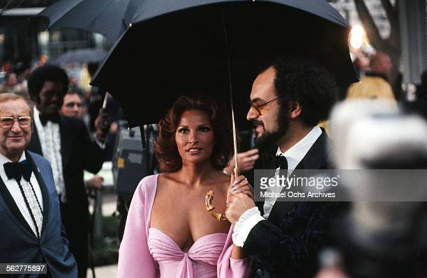 Actress Raquel Welch arrives to the 47th Academy Awards at Dorothy Chandler Pavilion in Los AngelesCalifornia