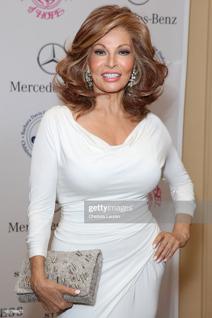 Actress <a gi-track='captionPersonalityLinkClicked' href=/galleries/search?phrase=Raquel+Welch&family=editorial&specificpeople=203311 ng-click='$event.stopPropagation()'>Raquel Welch</a> attends Mercedes-Benz presents the Carousel of Hope Ball benefitting Barbara Davis Center for Diabetes on October 11, 2014 in Beverly Hills, California.