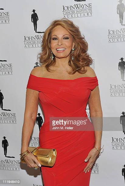 Actress Raquel Welch attends the John Wayne Cancer Institutes 26th Odyssey Ball Show at the Beverly Hilton Hotel on April 9 2011 in Beverly Hills...