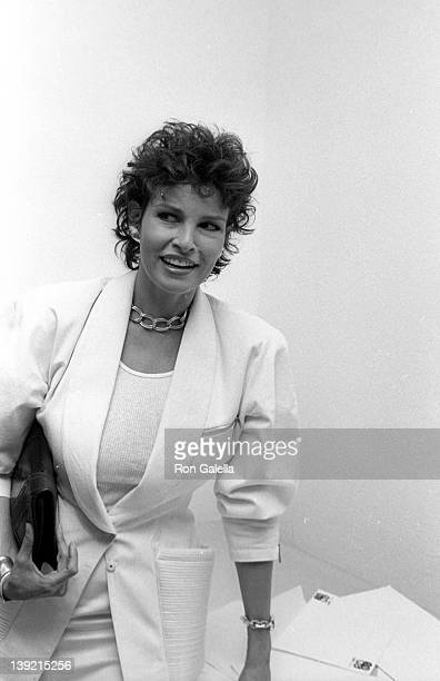 Actress Raquel Welch attends the launch party for 'The Movies' Magazine on June 20 1983 at Kaufman Astoria Studios in New York City