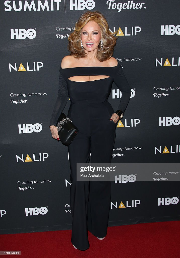 Actress <a gi-track='captionPersonalityLinkClicked' href=/galleries/search?phrase=Raquel+Welch&family=editorial&specificpeople=203311 ng-click='$event.stopPropagation()'>Raquel Welch</a> attends the NALIP 16th annual Latino Media Awards at The W Hollywood on June 27, 2015 in Hollywood, California.