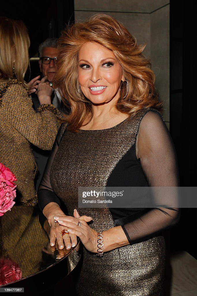 Actress Raquel Welch attends the Vanity Fair Montblanc party celebrating The Collection Princesse Grace de Monaco held at Hotel Bel-Air Los Angeles on February 21, 2012 in Los Angeles, California.