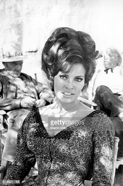 Actress Raquel Welch poses for a portrait on the set of the 20th Century Fox film 'Bandolero' in 1967