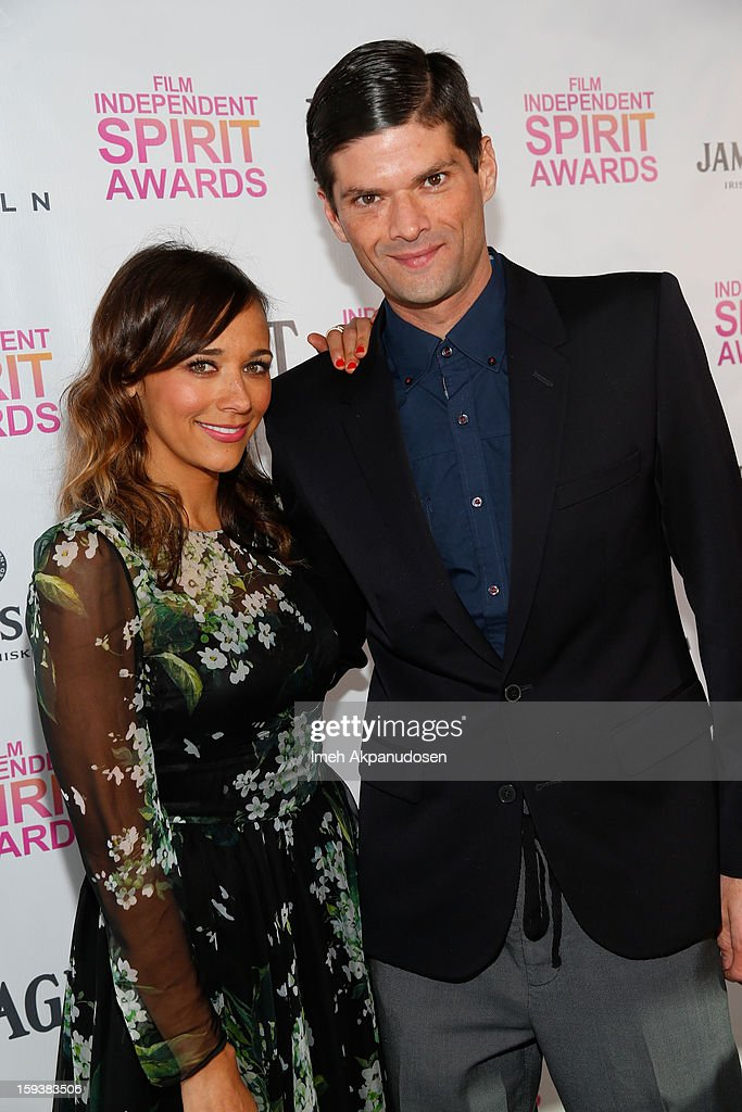 Actress Rashida Jones (L) and actor Will McCormack attend the 2013 Film Independent Filmmaker Grant And Spirit Award Nominees Brunch at BOA Steakhouse on January 12, 2013 in West Hollywood, California.
