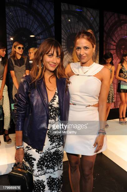 Actress Rashida Jones and designer Charlotte Ronson attend the Charlotte Ronson Presentation during MercedesBenz Fashion Week Spring 2014 at The Box...