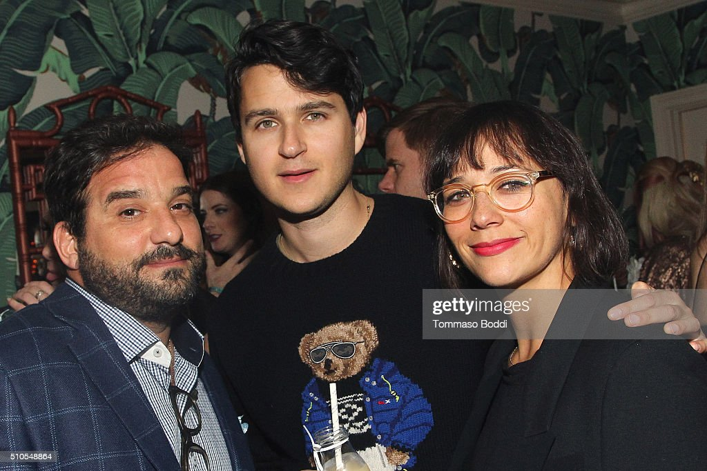 Actress Rashida Jones (R) and guests attend the Absolut Elyx Hosts Mark Ronson's Grammy's Afterparty at Elyx House Los Angeles on February 15, 2016 in Los Angeles, California.
