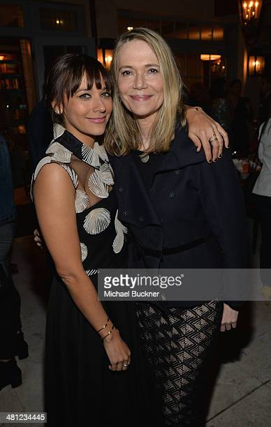 Actress Rashida Jones and mom Peggy Lipton attend a reception to celebrate Rashida Jones' New Glamour Column hosted by Cindi Leive and Jane...