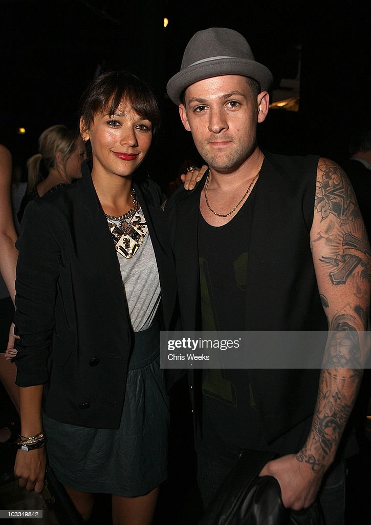 Actress Rashida Jones and musician Joel Madden attend the BlackBerry Torch from AT&T U.S. Launch Party on August 11, 2010 in Los Angeles, California.