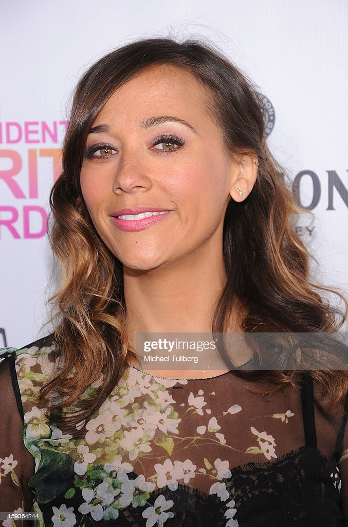 Actress Rashida Jones arrives at a brunch honoring the nominees for the 2013 Film Independent Filmmaker Grant and Spirit Awards at BOA Steakhouse on January 12, 2013 in West Hollywood, California.