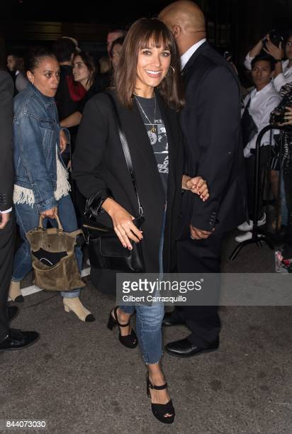 Actress Rashida Jones arrives at Calvin Klein Collection fashion show during New York Fashion Week on September 7 2017 in New York City
