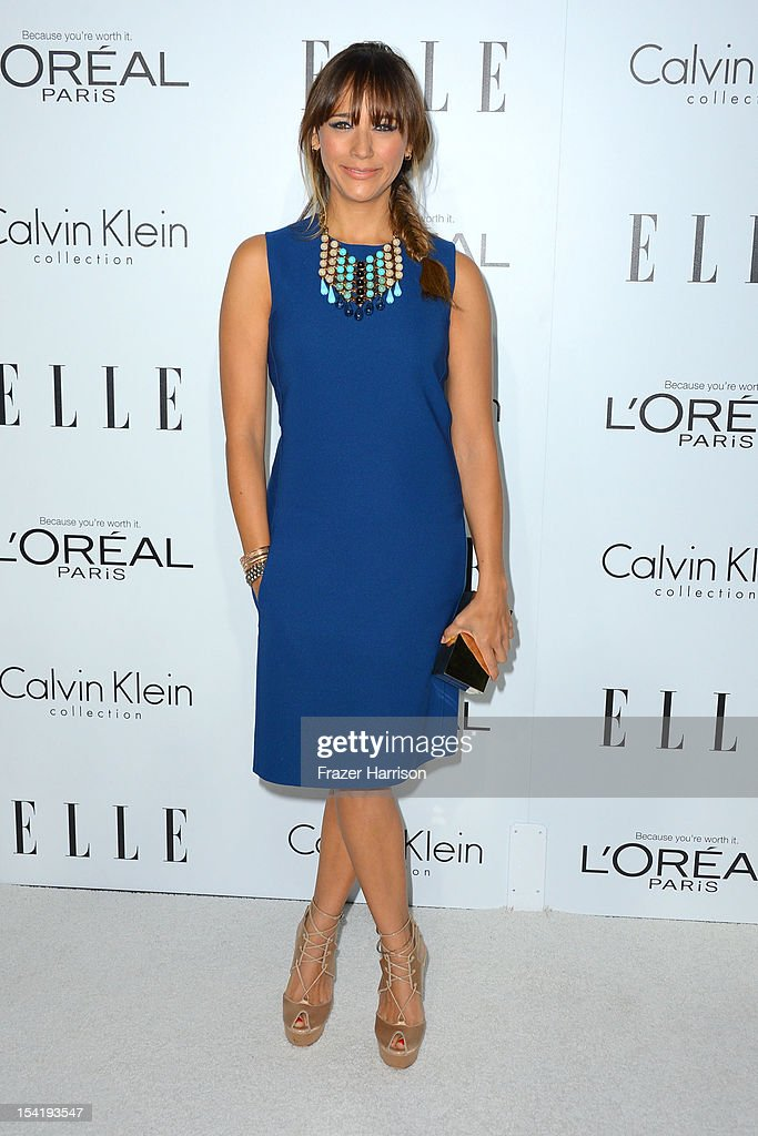 Actress Rashida Jones arrives at ELLE's 19th Annual Women In Hollywood Celebration at the Four Seasons Hotel on October 15, 2012 in Beverly Hills, California.