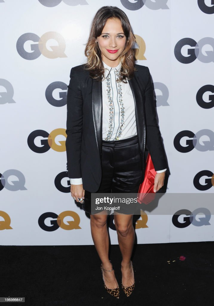 Actress <a gi-track='captionPersonalityLinkClicked' href=/galleries/search?phrase=Rashida+Jones&family=editorial&specificpeople=2133481 ng-click='$event.stopPropagation()'>Rashida Jones</a> arrives at GQ Men Of The Year Party at Chateau Marmont on November 13, 2012 in Los Angeles, California.