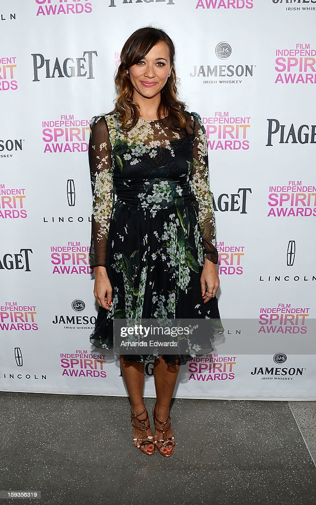 Actress Rashida Jones arrives at the 2013 Film Independent Filmmaker Grant And Spirit Awards Nominees Brunch at BOA Steakhouse on January 12, 2013 in West Hollywood, California.