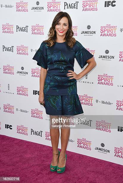 Actress Rashida Jones arrives at the 2013 Film Independent Spirit Awards at Santa Monica Beach on February 23 2013 in Santa Monica California on...